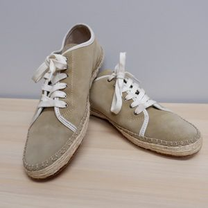 RAG & BONE DUNE STANDARD SUEDE LACE UP ESPADRILLE SNEAKERS SIZE 10 ✨